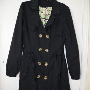 Jackets & Blazers - Black Trench Coat- Size L